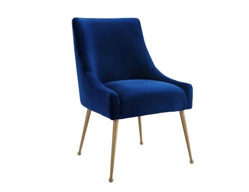 Liang & Eimil – Cohen Dining Chair – Marine Blue Velvet (3)
