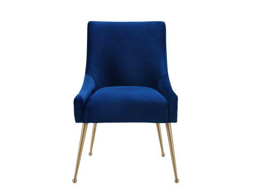 Liang & Eimil – Cohen Dining Chair – Marine Blue Velvet (4)