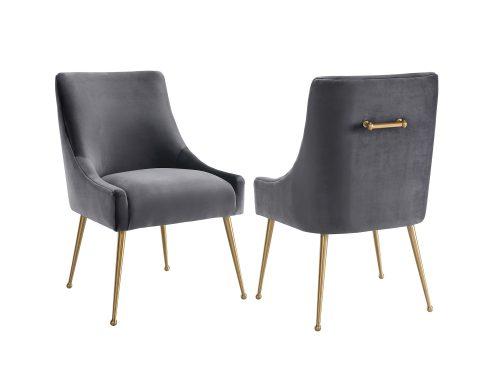Liang & Eimil – Cohen Dining Chair – Night Grey Velvet (1)