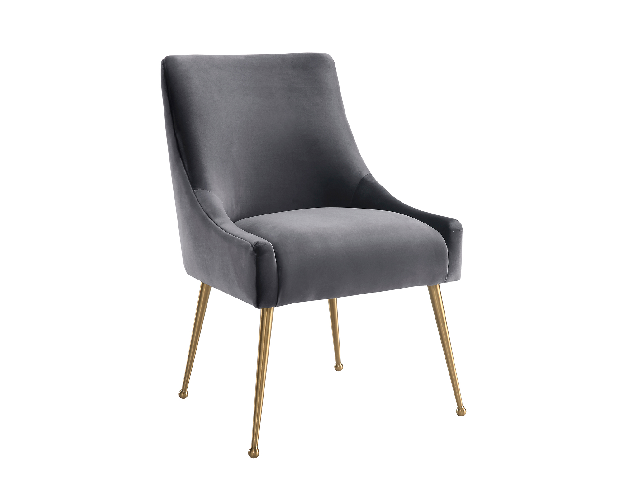 Liang & Eimil – Cohen Dining Chair – Night Grey Velvet (2)