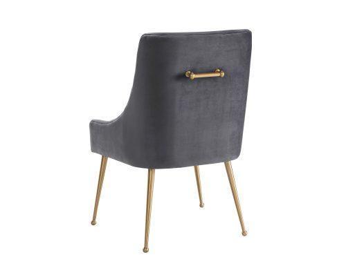 Liang & Eimil – Cohen Dining Chair – Night Grey Velvet (4)
