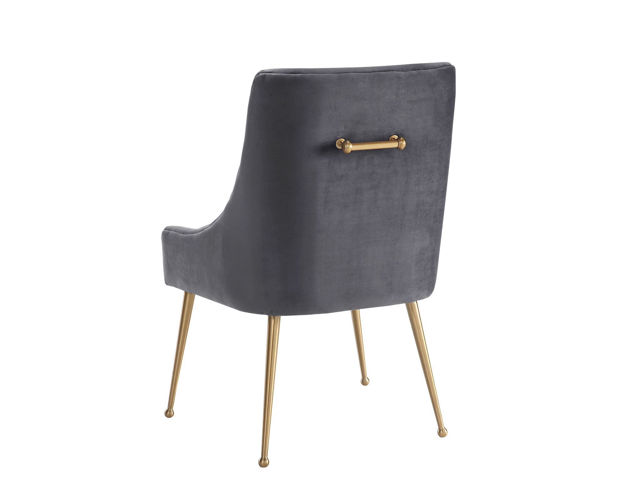 Liang & Eimil – Cohen Dining Chair – Night Grey Velvet (4)