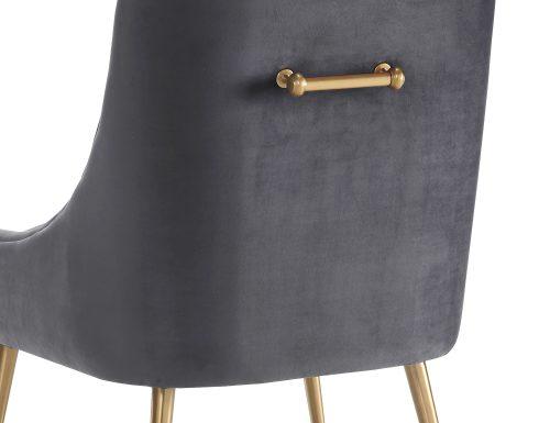 Liang & Eimil – Cohen Dining Chair – Night Grey Velvet (5)