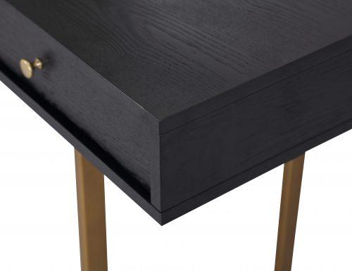 LE-Hamilton Desk Black Ash Venner & Brass Brush Painted (2)