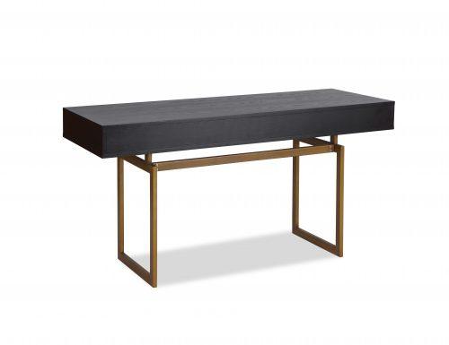LE-Hamilton Desk Black Ash Venner & Brass Brush Painted (5)