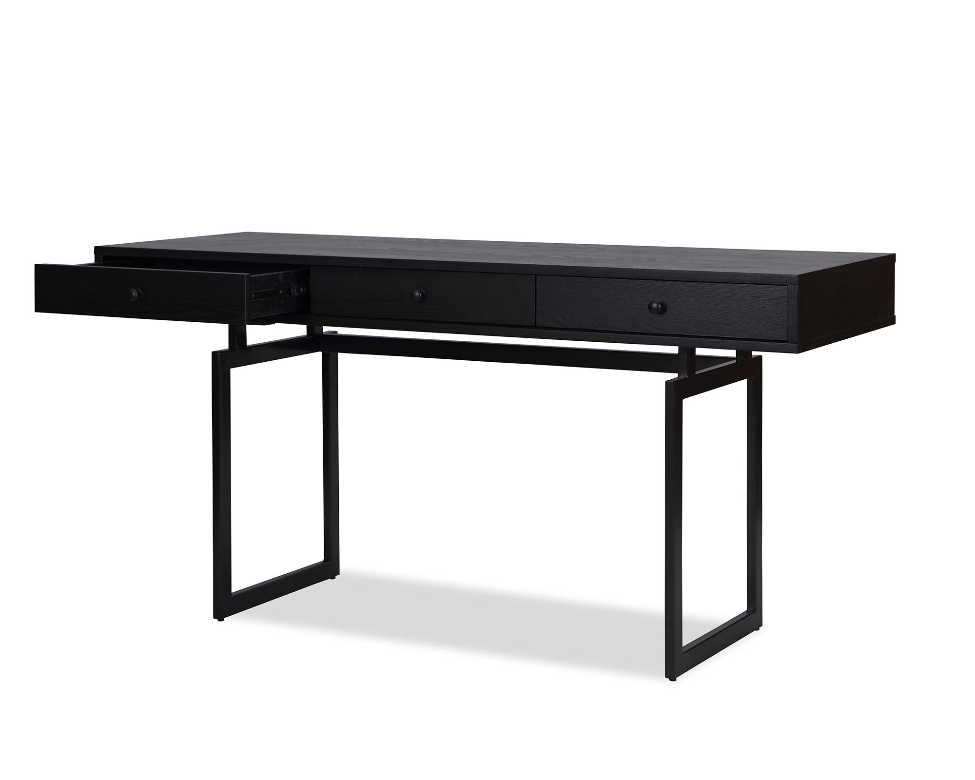 L&E Hamilton Desk – Wenge Ash Veneer – Dark Brown Satin (3)