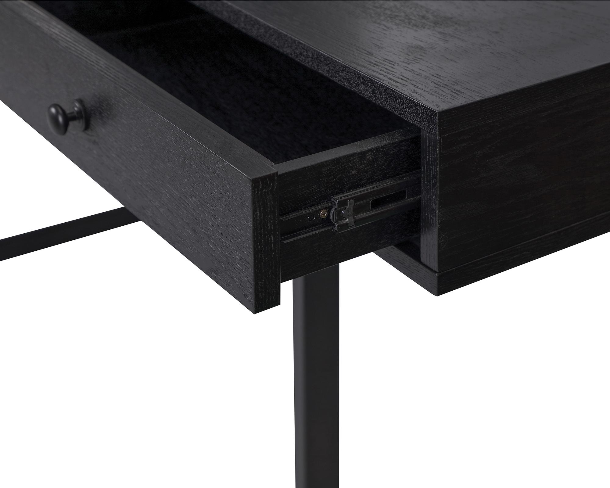L&E Hamilton Desk – Wenge Ash Veneer – Dark Brown Satin (5)