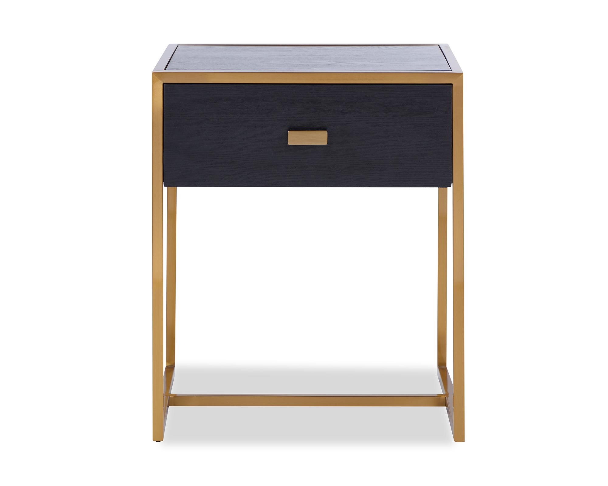 L&E Holman Bedside Table – Wenge – Brass (2)