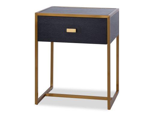 L&E Holman Bedside Table – Wenge – Brass (3)