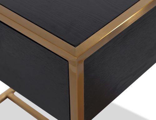 L&E Holman Bedside Table – Wenge – Brass (4)