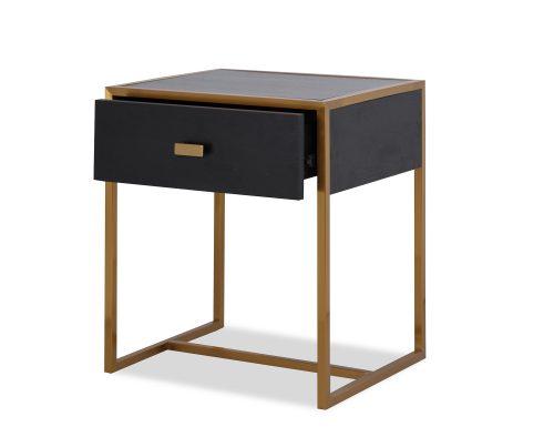 L&E Holman Bedside Table – Wenge – Brass (5)