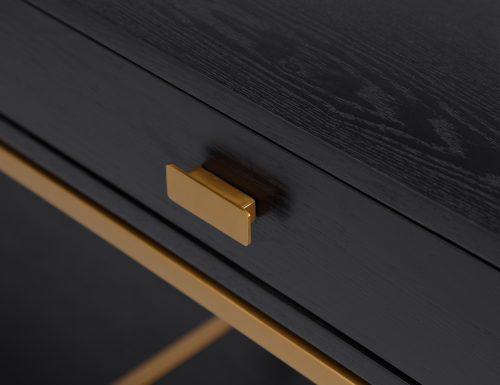 L&E Levi Bedside Tabel – Wenge Ash Veneer – Brass painted (2)
