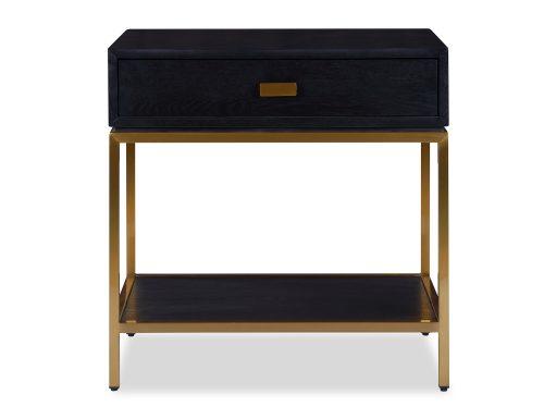 L&E Levi Bedside Tabel – Wenge Ash Veneer – Brass painted (3)