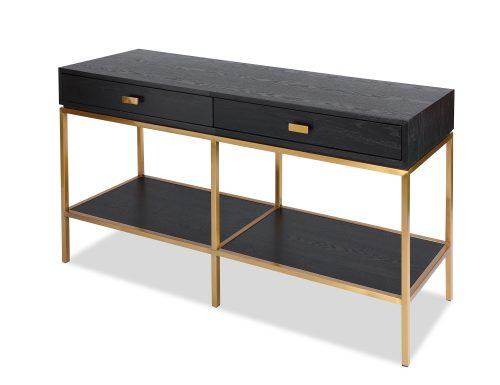 L&E Levi Dressing Table – Wenge Ash Veneer – Brass painted (1)
