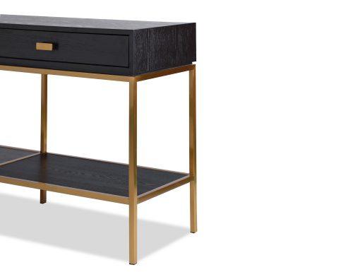 L&E Levi Dressing Table – Wenge Ash Veneer – Brass painted (5)