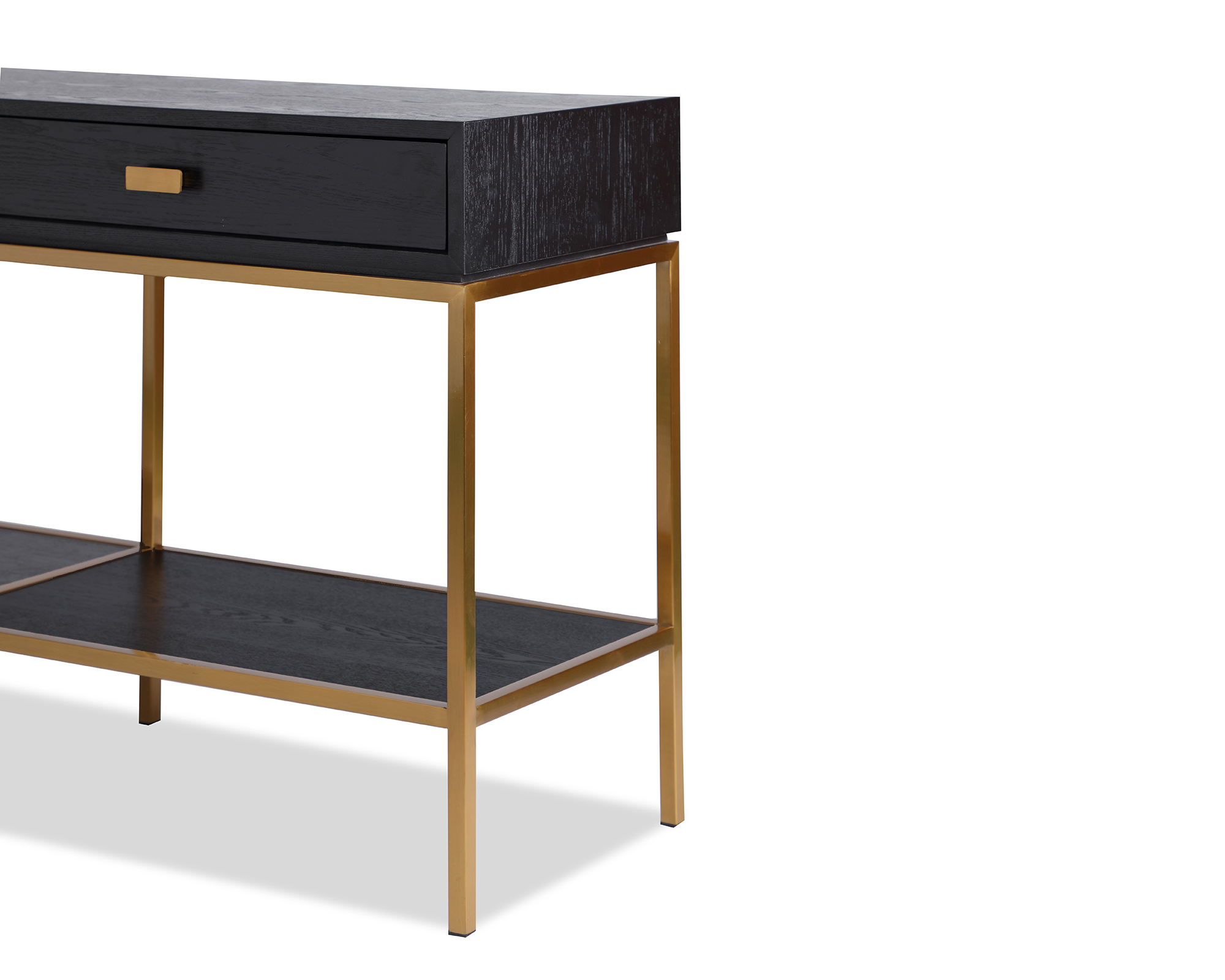 L&E Levi Dressing Table – Wenge Ash Veneer – Brass painted (5)