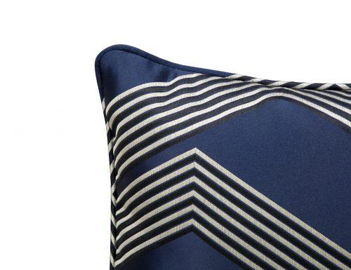 Liang & Eimil HA-PW-024 Amara Pillow ZIG-ZAG DARK BLUE AND BLACK SILK (1)