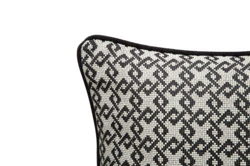 Liang & Eimil HA-PW-026 Regine Pillow DIAMONS BLACK BEIGE LINEN (4)