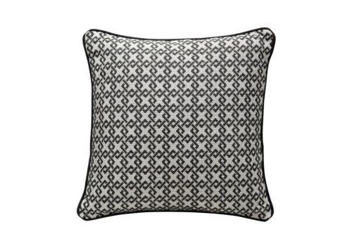 Liang & Eimil HA-PW-026 Regine Pillow DIAMONS BLACK BEIGE LINEN (5)