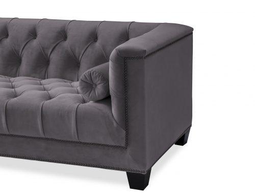 L&E Monroe 3 Seater Sofa – Night Grey Velvet (HA-SFA-030) (1)