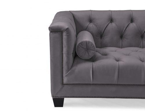 L&E Monroe 3 Seater Sofa – Night Grey Velvet (HA-SFA-030) (4)
