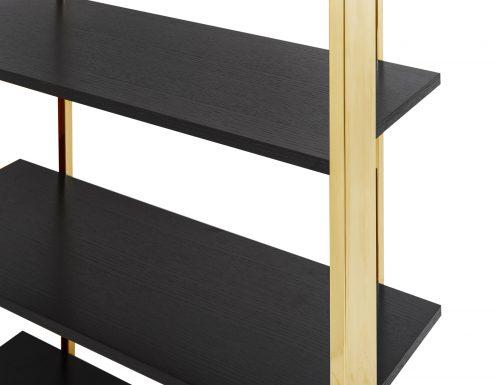 Liang & Eimil CB-SHL-101-BG Lennox Bookcase Polished Brass (4)