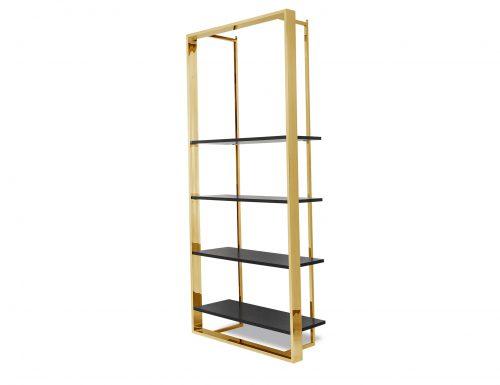 Liang & Eimil CB-SHL-101-BG Lennox Bookcase Polished Brass (7)