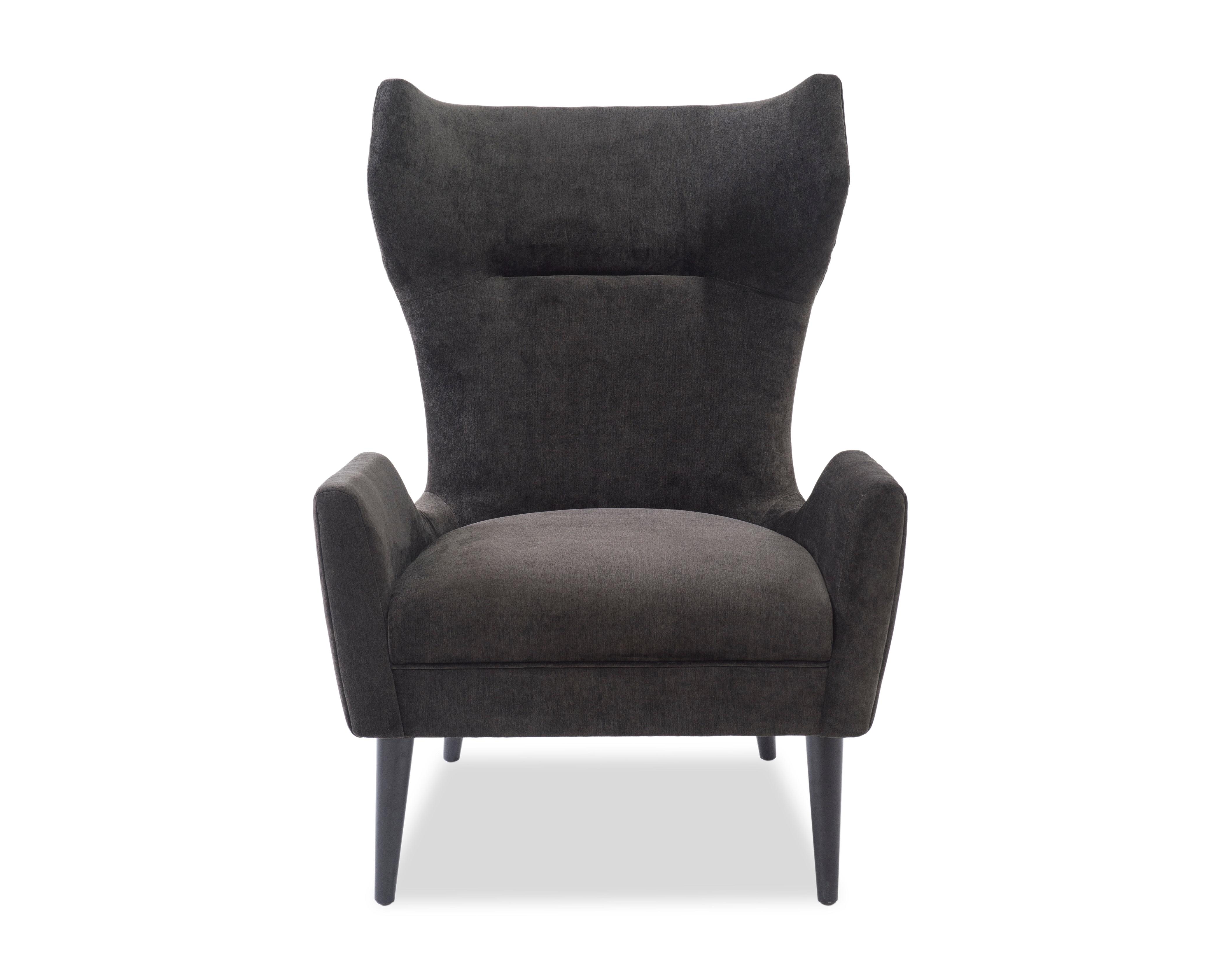 L&E Vendome Occasional Chair – Jet Black Velvet (BH-OCH-019) (1)
