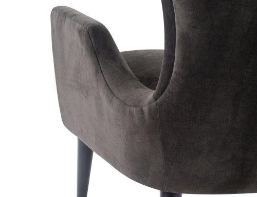 L&E Vendome Occasional Chair – Jet Black Velvet (BH-OCH-019) (4)