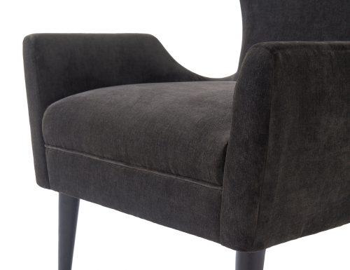 L&E Vendome Occasional Chair – Jet Black Velvet (BH-OCH-019) (5)