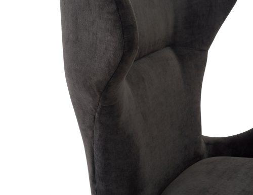 L&E Vendome Occasional Chair – Jet Black Velvet (BH-OCH-019) (6)