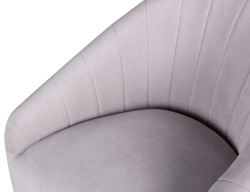 L&E Bogart Occasional Chair – Kaster Light Grey Velvet (MY-OCH-042) (1)