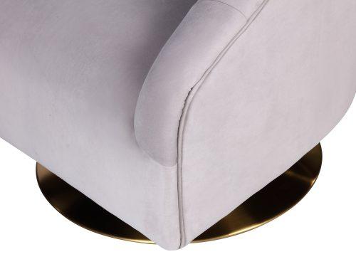 L&E Bogart Occasional Chair – Kaster Light Grey Velvet (MY-OCH-042) (2)