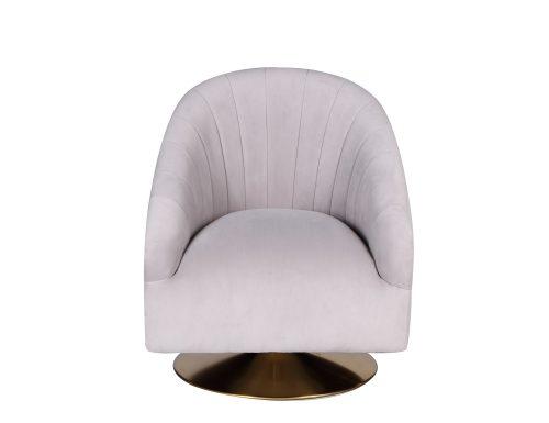 L&E Bogart Occasional Chair – Kaster Light Grey Velvet (MY-OCH-042) (3)