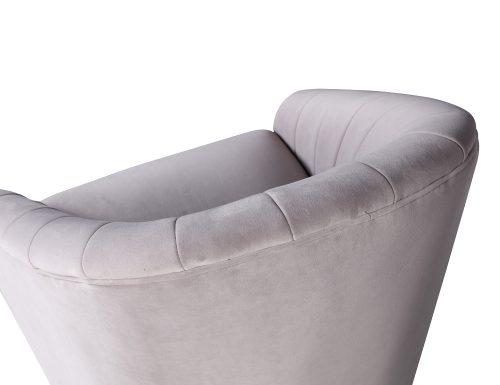 L&E Bogart Occasional Chair – Kaster Light Grey Velvet (MY-OCH-042) (5)