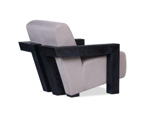 L&E Compton Occasional Chair – Kaster Light Grey Velvet (MY-OCH-046) (2)