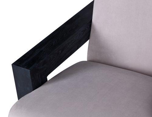 L&E Compton Occasional Chair – Kaster Light Grey Velvet (MY-OCH-046) (4)