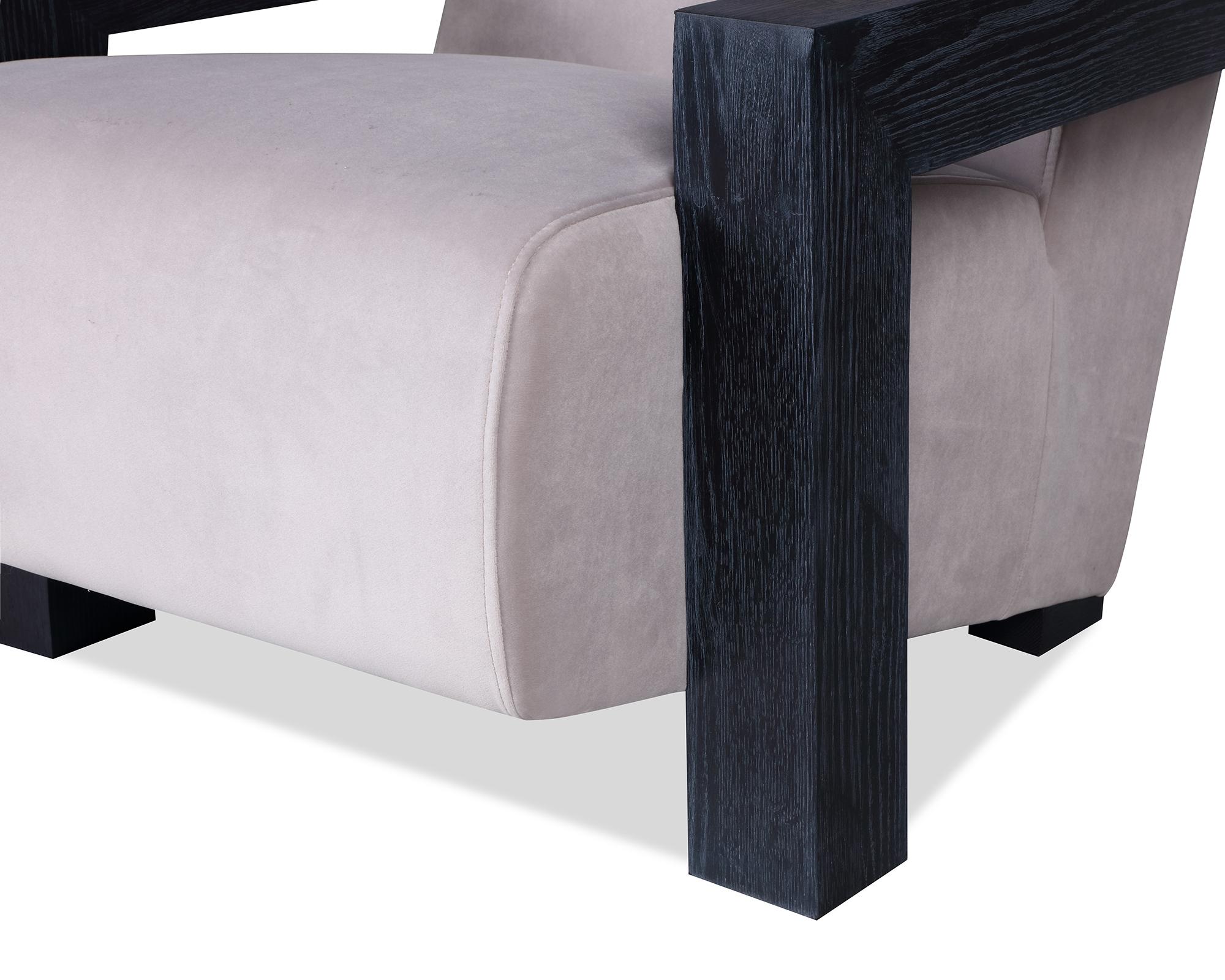 L&E Compton Occasional Chair – Kaster Light Grey Velvet (MY-OCH-046) (5)
