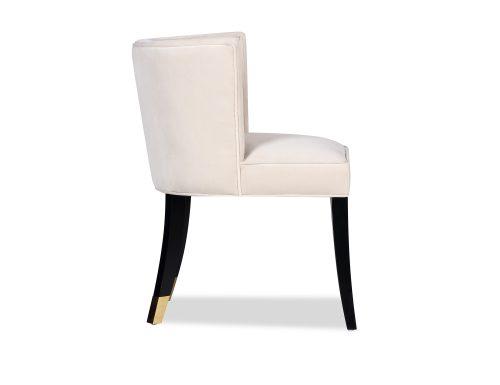 L&E Kelly Dining Chair – Kaster Pebble Velvet (MY-DCH-034) (3)