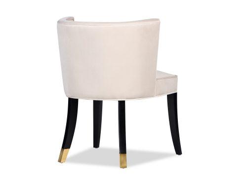 L&E Kelly Dining Chair – Kaster Pebble Velvet (MY-DCH-034) (4)