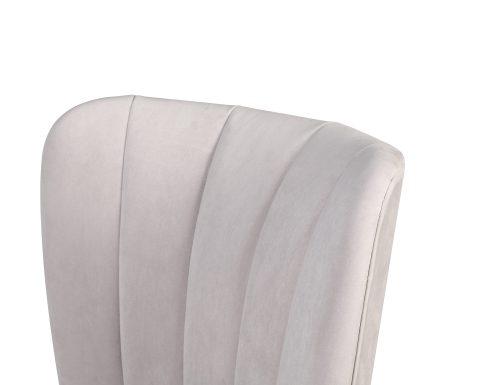 L&E Novak Dining Chair – Kaster Light Grey Velvet (MY-DCH-033) (4)