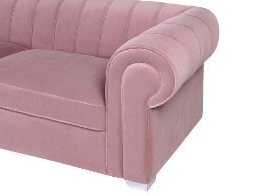 L&E Oxford Sofa – Kaster Lilac Velvet (MY-SFA-029) (5)