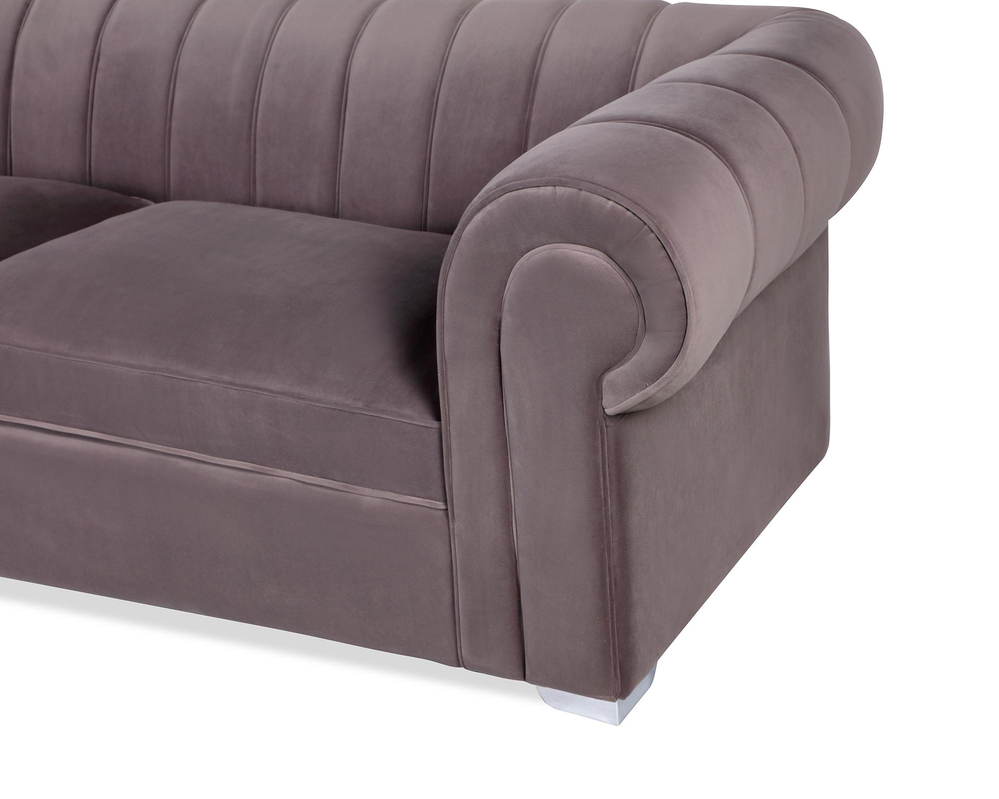 L&E Oxford Sofa – Kaster Steel Velvet (MY-SFA-047) (4)
