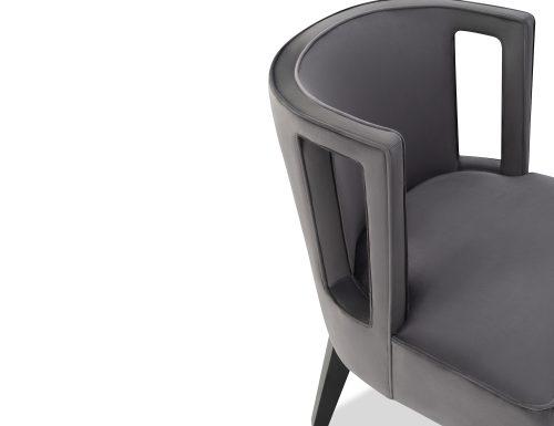 Liang & Eimil Cara Occasional Chair Night Grey Velvet BH-OCH-082 (1)