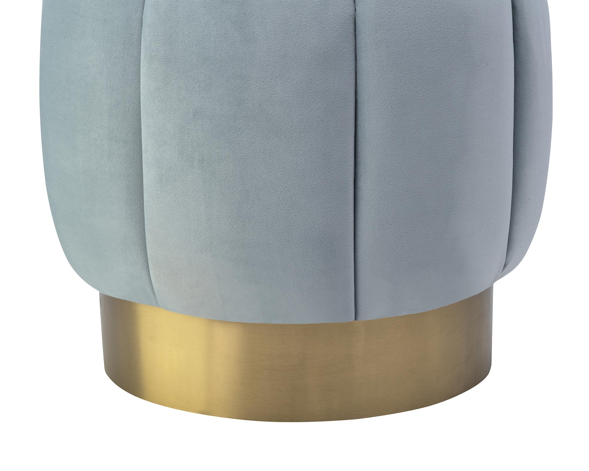 Liang & Eimil Cloe Stool Turquoise Velvet BH-STL-105 (4)