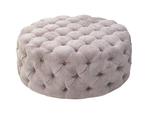 Liang & Eimil Elgard Round Bench Lavender Velvet BH-OTM-100