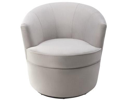 Liang & Eimil Kiss Occasional Chair Fog Grey Velvet BH-OCH-087 (2)