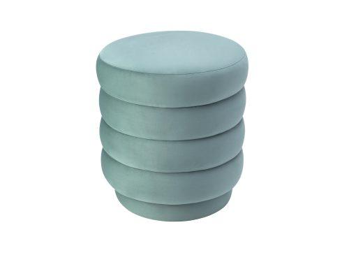 Liang & Eimil Lou Stool Deep Turquoise Velvet BH-STL-109 (2)