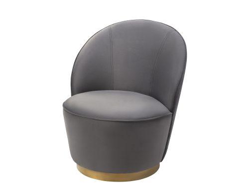 Liang & Eimil Miu Occasional Chair Night Grey Velvet BH-OCH-127 (1)