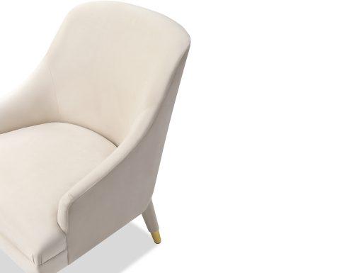Liang & Eimil Sylvia Occasional Chair Tan Beige Velvet BH-OCH-093 (5)